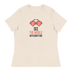 Ladies Premium Tee - See the World With Gratitude