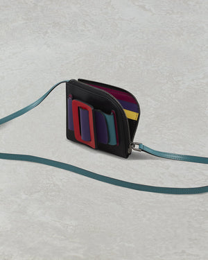 BUCKLE CARD HOLDER (WITH STRAP) COLOR BLOCK