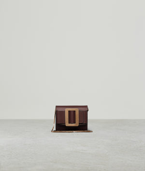 BUCKLE SQUARE WALLET COGNAC