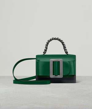 FRED 19 TWO-TONE SILVER BUCKLE BOTTLE GREEN / BLACK