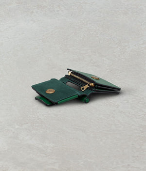 ROMEO WALLET WITH STRAP BOTTLE GREEN