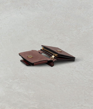 ROMEO WALLET WITH STRAP COGNAC