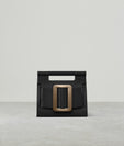ROMEO GOLD BUCKLE BLACK