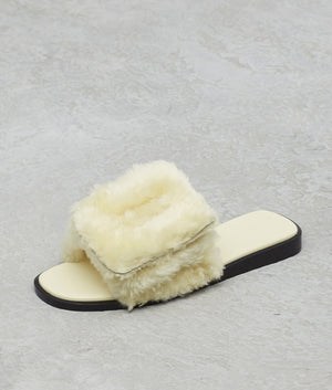 Puffy Sandal Shearling