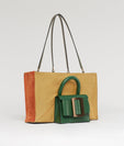 LUCAS TOTE LEAF / AMBER CANVAS