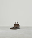 KARL CHARM WITH STRAP TWO-TONE SADDLE / CARAMEL