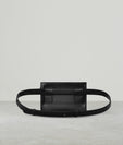 BUCKLE BELT BAG (GOLD BUCKLE)  BLACK