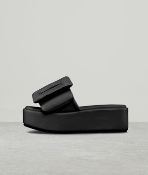 PUFFY SANDAL PLATFORM BLACK