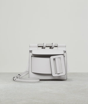 ROMEO LEATHER BUCKLE SILVER HARDWARE ICE