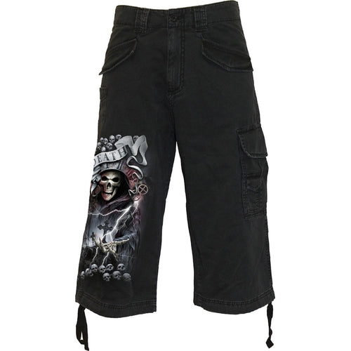 LIFE AND DEATH CROSS - Vintage Cargo Shorts 3/4