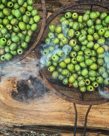 Smoked Castelvetrano Olives - Wood Fire Food Co.
