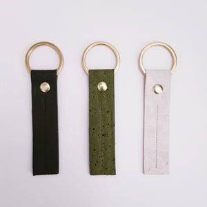 Cork leather fob Keyring
