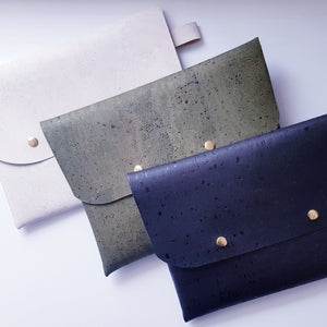 Cork leather clutch bags