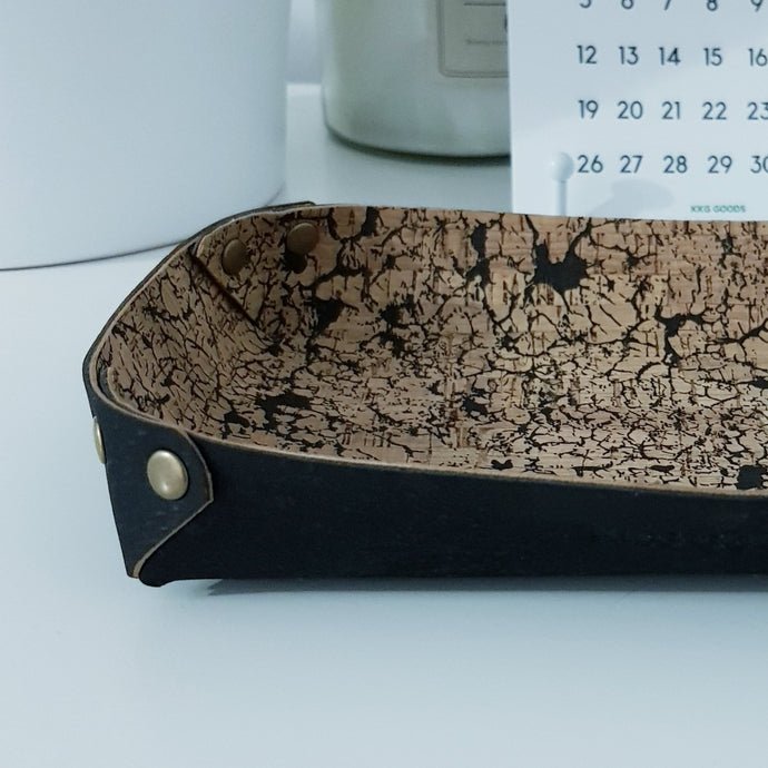 Cork Leather Valet Tray