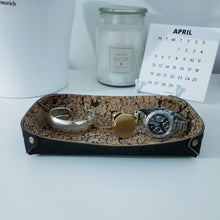 Load image into Gallery viewer, Cork Leather Valet Tray