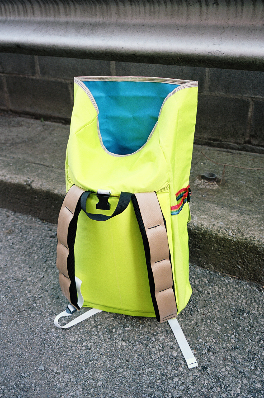 FLUORESCENT ROLLTOP BACKPACK