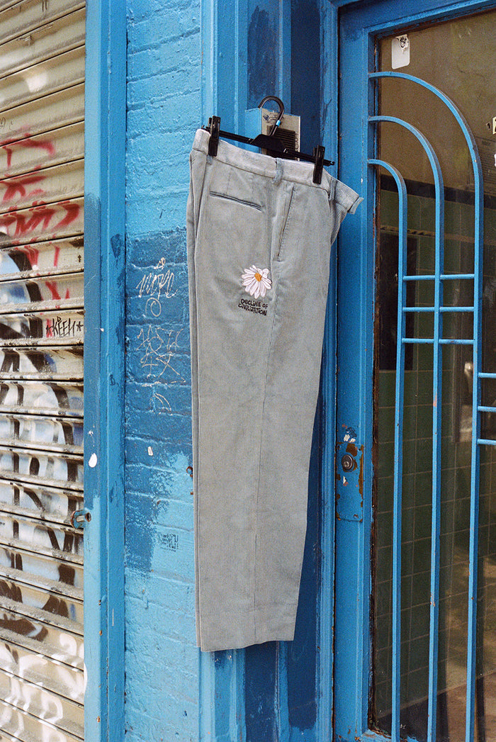BLUE CORDUROY TROUSER