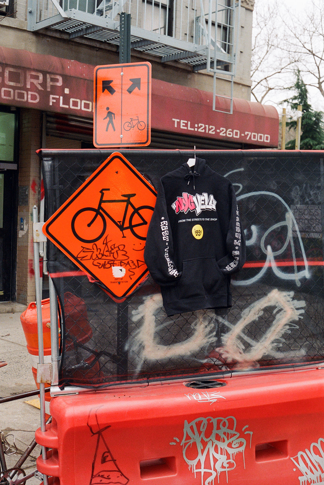NYC VELO HOODED SWEATSHIRT