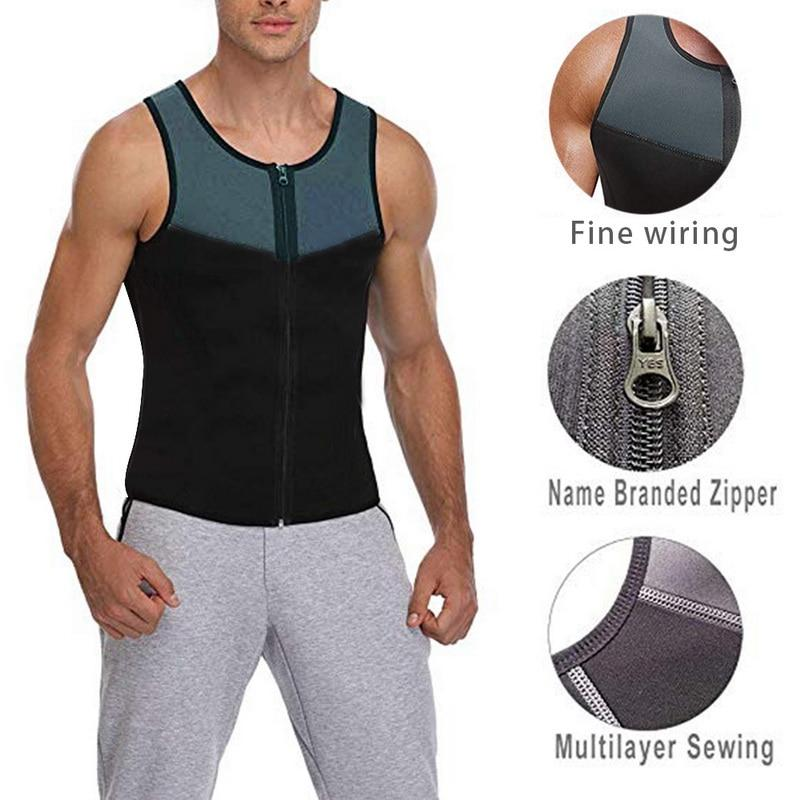 New Neoprene Sauna Vest for Men Weight Body Shaper Fitness ShopLateTonight