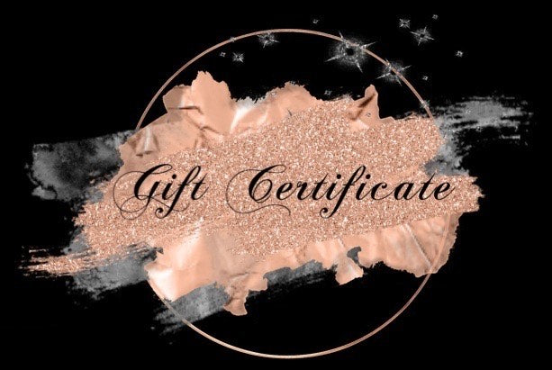 CREATIVELY BLACK CUSTOMS GIFT CERTIFICATE