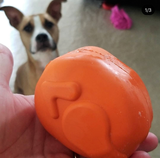 Turkey Rubber Dog Toy and Treat Dispenser