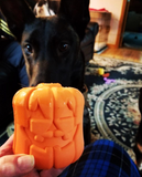 Jack-o-Lantern Rubber Dog Toy and Treat Dispenser - Halloween Dog Toy