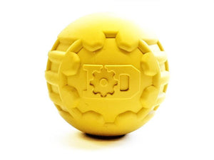 Yellow ID Ball - Ultra-Durable Rubber Chew Ball