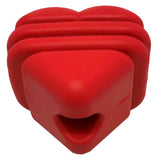 Heart on a String Rubber Dog Toy