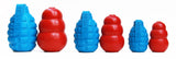 Grenade Rubber Dog Toy and Treat Dispenser Combos