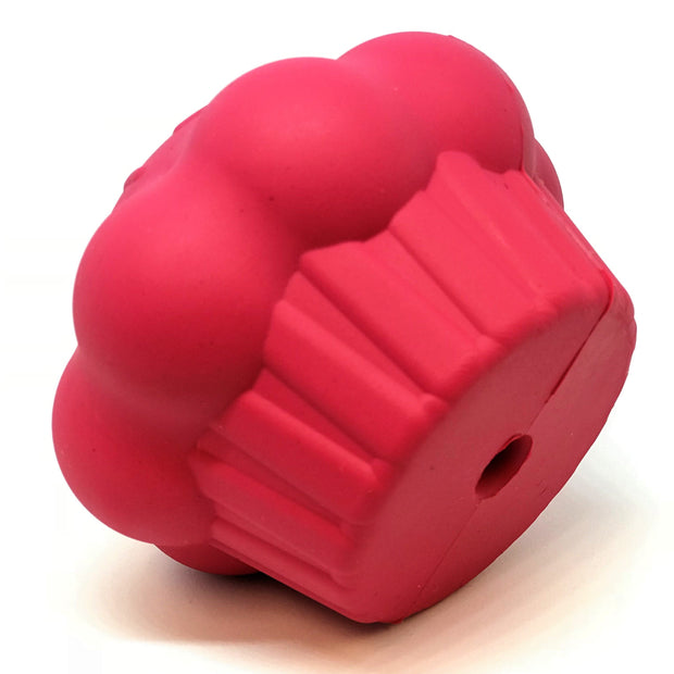 MKB Cupcake Durable Rubber Chew Toy & Treat Dispenser - Pink 1