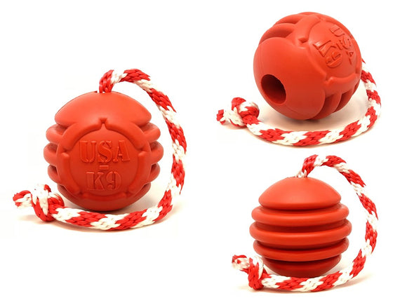 USA-K9 STARS AND STRIPES ULTRA-DURABLE REWARD BALL
