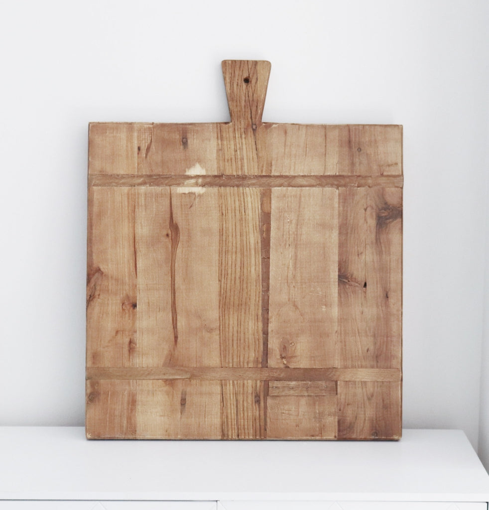 Wooden Cheese Board Square with handle - Abode Bazaar