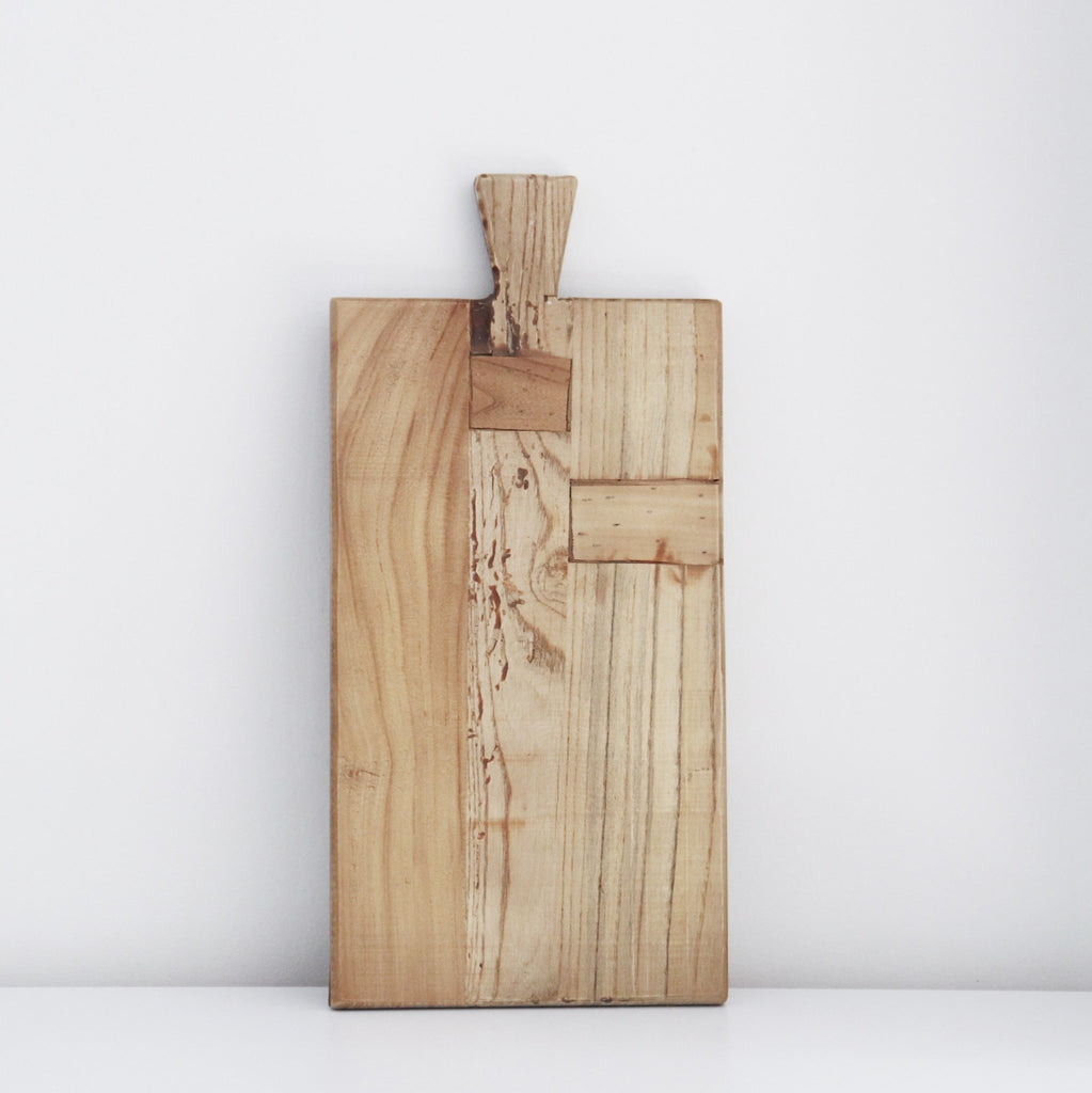 Wooden Chopping Board Rectangle with Handle - Abode Bazaar