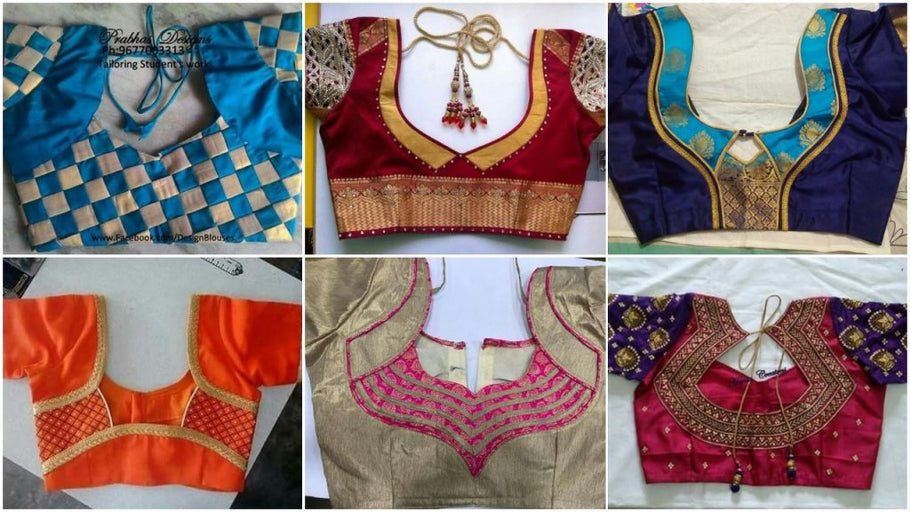 Types Of Back Neck Blouse Designs