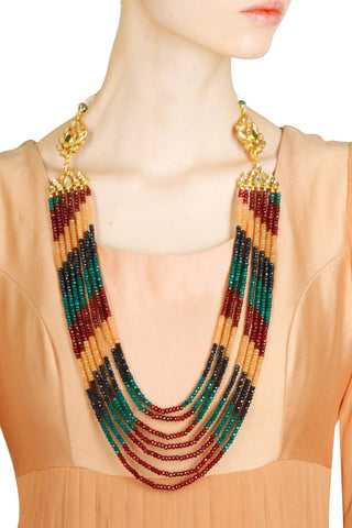 Multi colored string necklace