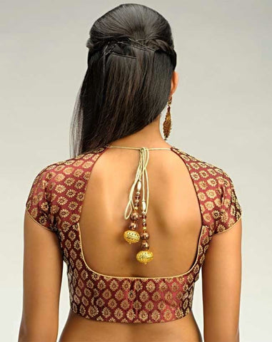backless blouse with strings and tassels