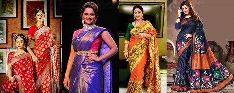 saree and wrapped garment