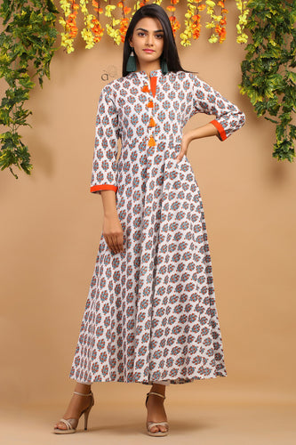 Cotton Printed Long Kurti Buy Online