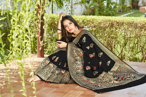 Black Soft Silk Pattu Saree