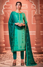 Load image into Gallery viewer, Sea Green Unstitched Suit Set Buy Online
