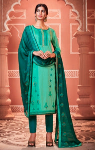Sea Green Unstitched Suit Set Buy Online