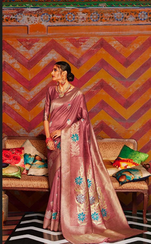 Maroon Soft Silk Designer Pattu Saree