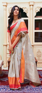 Linen  Silk Sarees with Blouse