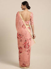 Load image into Gallery viewer, Linen-Cotton Damaru Print Saree Buy Online
