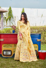 Load image into Gallery viewer, Gold Soft Silk Pattu Saree Buy Online