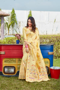Gold Soft Silk Pattu Saree Buy Online