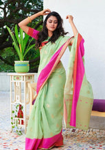 Load image into Gallery viewer, Linen  Silk Sarees with Blouse