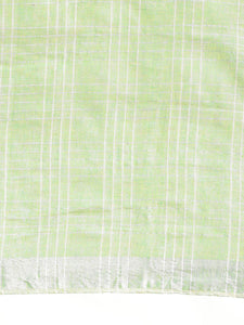 Green Cotton Linen Saree with Blouse Buy Online