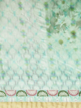 Load image into Gallery viewer, Light Sea Green Linen-Cotton Saree
