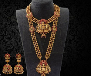 Bridal Set-Long Haaram, Necklace and Earrings Buy Online